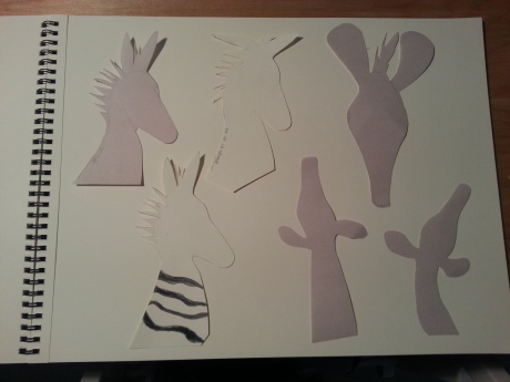 Page of Zebra Outlines